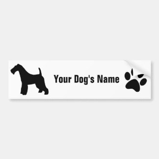 Personalized Wire Fox Terrier ワイヤー・フォックス・テリア Bumper Sticker