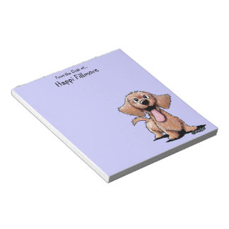 Personalized Wirehaired Doxie Notepad