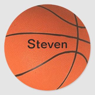Personalized with Your Name Basketball Sticker