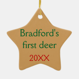 Personalized with your text Deer in the Mist Christmas Ornament