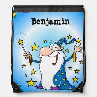 Personalized Wizard Drawstring Bag