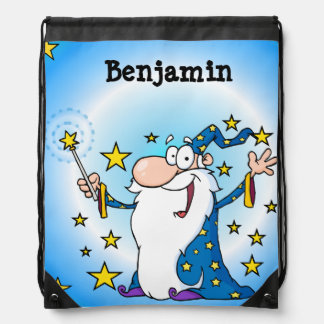 Personalized Wizard Drawstring Bag
