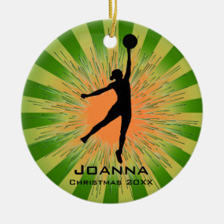 Personalized Women's Basketball Ornament
