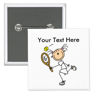 Personalized Women's Tennis Shirts 15 Cm Square Badge