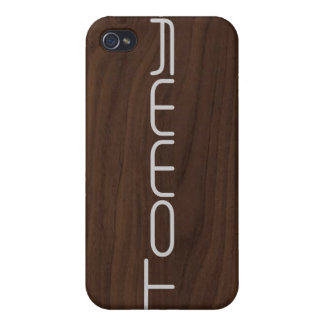 Personalized Wood Grain iPhone 4/4S Case