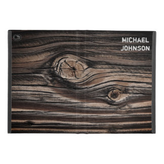 Personalized Wood Grain Pattern iPad Mini 4 Case