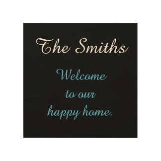 Personalized Wood Welcome Sign Wood Prints