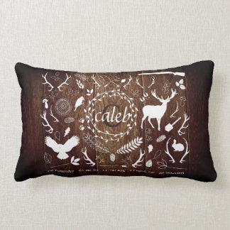 Personalized Woodland Baby Boy Nursery Decor Barn Lumbar Pillow
