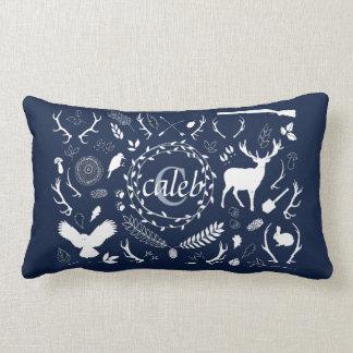 Personalized Woodland Baby Boy Nursery Decor Lumbar Pillow
