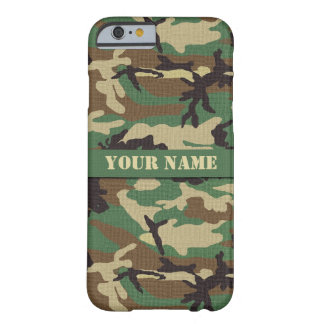 Personalized  Woodland Camouflage iPhone 6 Case