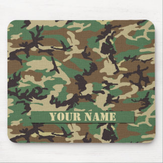 Personalized Woodland Camouflage Mousepad