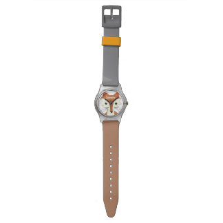 Personalized Woodland Creatures Fox Wrist Watches