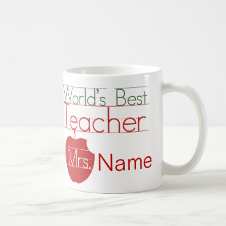 Personalized Worlds Best Teacher Basic White Mug