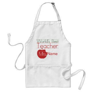 Personalized Worlds Best Teacher Standard Apron