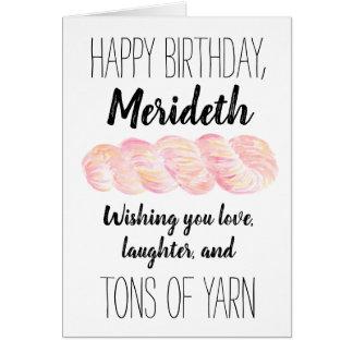 Personalized Yarn Joke Birthday Card