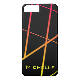 Personalized Yellow and Red Gradient Lines iPhone 8 Plus/7 Plus Case