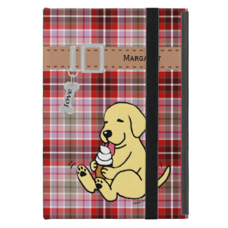 Personalized Yellow Lab Licking Ice Cream iPad Mini Case