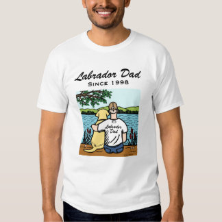 Personalized Yellow Labrador and Dad Shirt