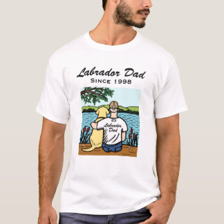 Personalized Yellow Labrador and Dad T-Shirt