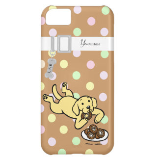 Personalized Yellow Labrador and Doughnuts iPhone 5C Case