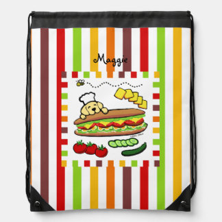 Personalized Yellow Labrador Bakery Backpacks