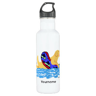 Personalized Yellow Labrador Swimming 710 Ml Water Bottle