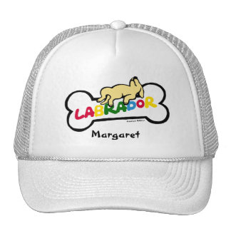 Personalized Yellow Labrador with a full belly Hat