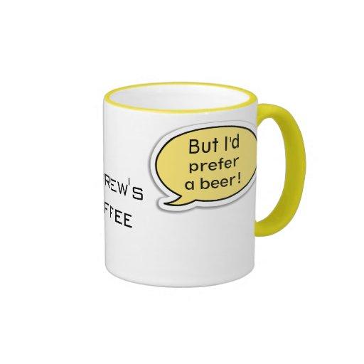 Personalized Yellow Speech Bubble Coffee Mug