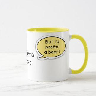 Personalized Yellow Speech Bubble Mug