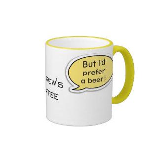 Personalized Yellow Speech Bubble Ringer Mug