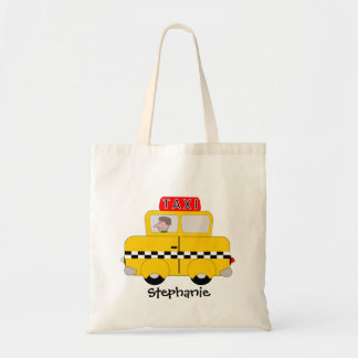 Personalized Yellow Taxi Tote Bag