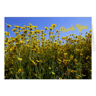 Personalized Yellow Wildflowers Card