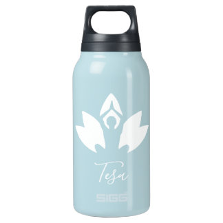 Personalized, Yoga, Lotus, silhouette, Hustle Insulated Water Bottle