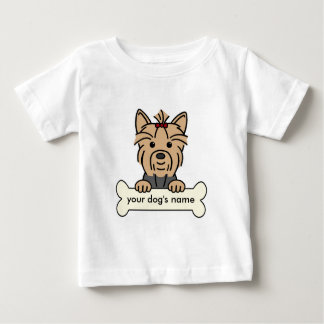 Personalized Yorkie Baby T-Shirt