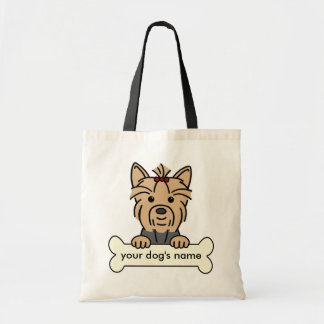 Personalized Yorkie Budget Tote Bag