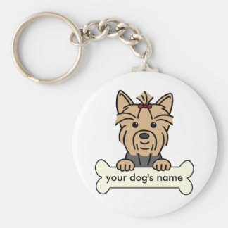 Personalized Yorkie Key Ring