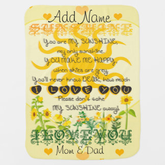 Personalized You are My Sunshine Baby Blanket