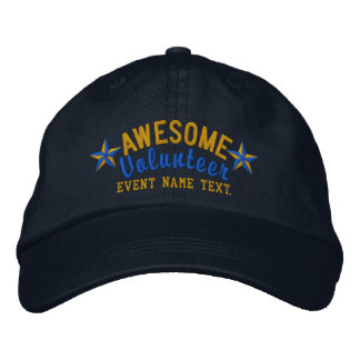 Personalized Your Cap Awesome Volunteer Embroidery Baseball Cap