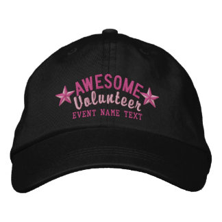 Personalized Your Cap Awesome Volunteer Embroidery Embroidered Baseball Caps