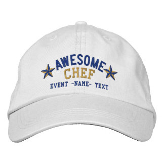 Personalized Your Name Awesome Chef Embroidery Embroidered Hat