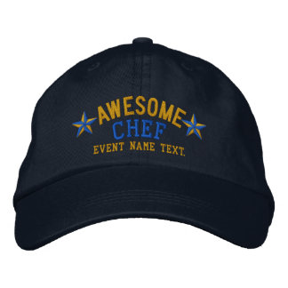 Personalized Your Name Awesome Chef Embroidery Embroidered Baseball Cap