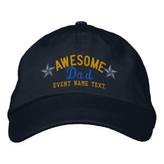 Personalized Your Name Awesome Dad Embroidery Embroidered Hat