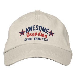 Personalized Your Name Awesome Grandma Embroidery Embroidered Cap