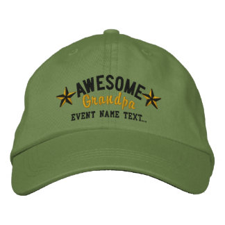 Personalized Your Name Awesome Grandpa Embroidery Embroidered Cap