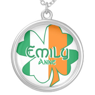 Personalized Your Name Irish Flag Charm Necklace