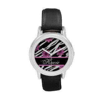 Personalized Zebra Striped Watch