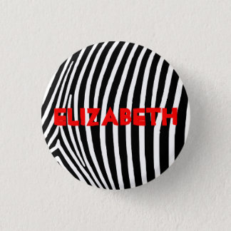 Personalized Zebra Stripes 3 Cm Round Badge