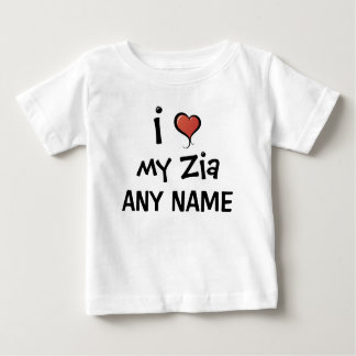 Personalized Zia Love Baby T-Shirt