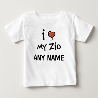 Personalized Zio Love Baby T-Shirt