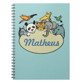 personalized zoo family animals notebooks